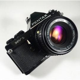 pentax mv1 black analog camera 35mm 50mm 2 f2 reflex vintage