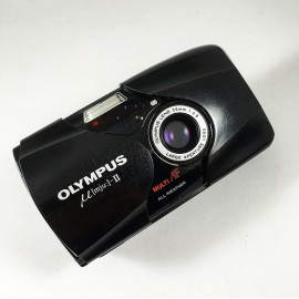 olympus mju 2 noir 35mm 2.8 point and shoot II 1997 135 argentique