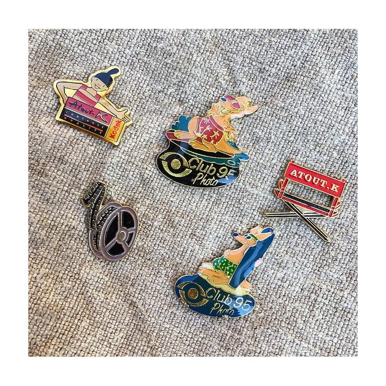 pin's pins kodak publicitaire vintage 1990 lot 5 photo pellicule film