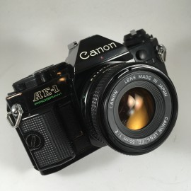 canon ae1 program 50mm fd 1.8 black