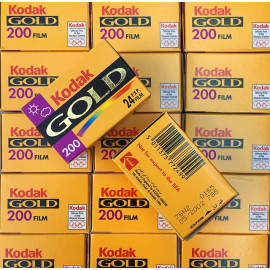 expired 35mm photo film vintage kodak gold 200 iso 2002