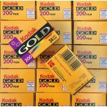 expired 35mm photo film vintage kodak gold 200 iso 2002