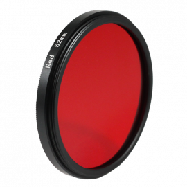 Red filter black and white 49mm 52mm 55mm lens lenses photo