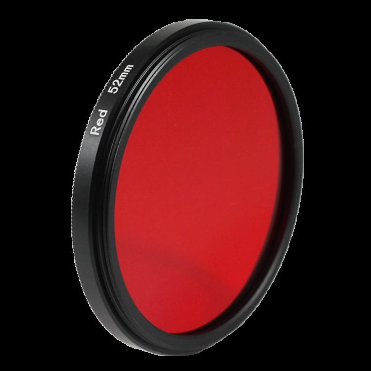 Filtre rouge noir et blanc 49mm 52mm 55mm  objectif optique photo