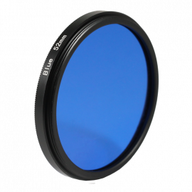 blue filter black and white 49mm 52mm 55mm lens lenses photo