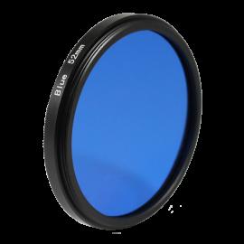 Filtre bleu noir et blanc 49mm 52mm 55mm  objectif optique photo