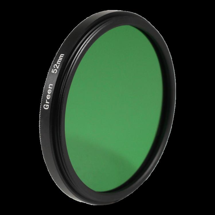 Filtre vert noir et blanc 49mm 52mm 55mm  objectif optique photo