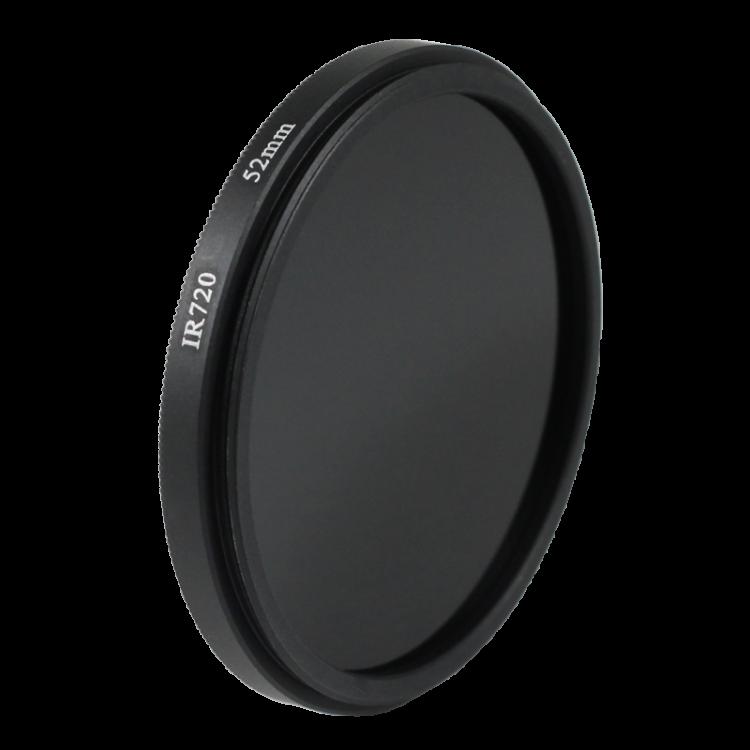 Filtre infrarouge noir et blanc 52mm  objectif optique photo