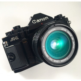 analog canon A-1 A1 35mm camera reflex 135 film vintage antique 28mm 2 2.0 fd