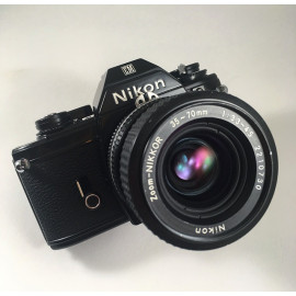 nikon em nikkor zoom 35-70mm 3.3 4.5 reflex analog film 35mm photography 24 36 135