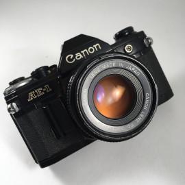 canon ae1 ae-1 noir reflex argentique 50mm 1.8 f1.8 35mm 135
