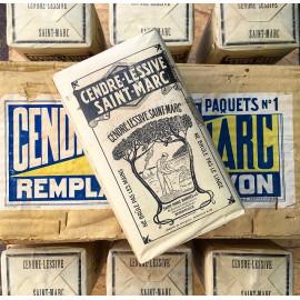 boite paquet ancien cendre lessive st marc 1920 1930 blanc