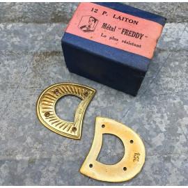 protecteur renfort métallique laiton vintage métal freddy cordonnier 1920 1930 38