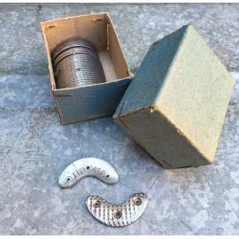 renfort protecteur tip 110 chaussure botte métal métallique croissant pointe talon