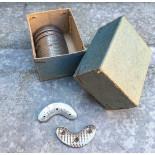 metal metallic shoe protection vintage antique 1930 tip 110 front