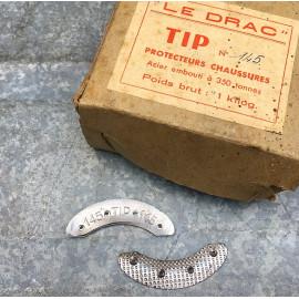metal metallic shoe protection vintage antique 1930 tip 145 front
