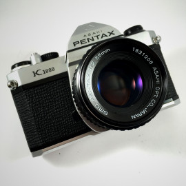 pentax k1000 smc 55mm 2 reflex film 35mm 135 analog camera vintage
