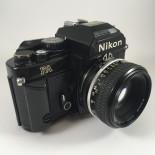 appareil reflex argentique nikon fa noir nikkor 50mm 1.8 35mm film amp