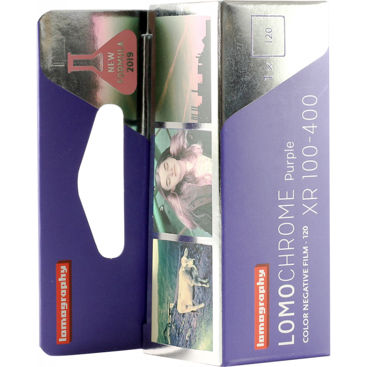 lomography purple xr 100 400 color negative analog 120