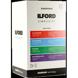 ilford starter pack noir et blanc révélateur fixateur bain arrêt agent mouillant 35mm 120