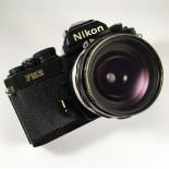 Nikon Fm2n black 28mm 3.5 35mm analog film camera
