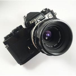 nikon fe black nikkor 55mm 3.5 vintage analog camera reflex macro