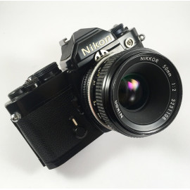 nikon fm noir nikkor 50mm 2 ais reflex appareil photo argentique manuel mécanique 35mm 135 24 36