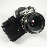 nikon fm black nikkor 50mm 2 ais reflex photo analog camera 35mm 135 24 36