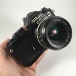 nikon fm black nikkor 50mm 2 ais reflex photo analog camera 35mm 135 24 36