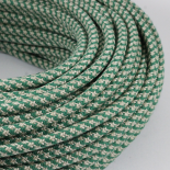 electric wire textile fabric electricity vintage decoration lamps lightning canvas and green round
