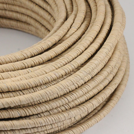 cable electrique couleur fil textile vintage papier tressé raphia rafia textile rond coloré