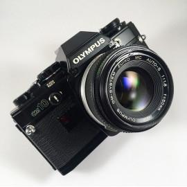 olympus om10 noir zuiko auto s 50mm 1.8 appareil argentique ancien reflex