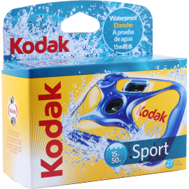 appareil photo jetable kodak sport couleur étanche 27 poses photos 15m
