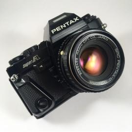 appareil pentax super A 35mm 50mm 2 1983 automatique auto argentique