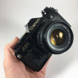 canon ae1 program 50mm fd 1.8 black 35mm analog film camera vintage reflex AE-1
