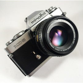 minolta xd5 vintage analog camera reflex 24 36 35mm rokkor 50mm 1.7