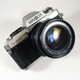 minolta x-500 35mm 2.8 reflex analog 35mm analog film camera vintage x500