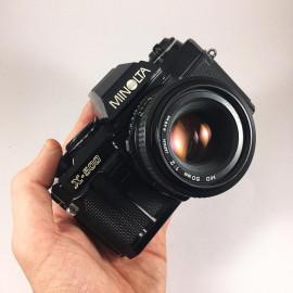 minolta x-500 50mm 2 f2 reflex analog 35mm analog film camera vintage