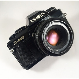 minolta x-500 noir 50mm 2 f2 reflex appareil argentique 35mm vintage ancien