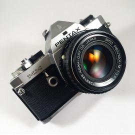 pentax mx analog film camera 50mm 1.7 reflex 35mm 135