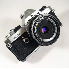 pentax mx analog film camera reflex 35mm 135 smc pentax 40mm 2.8 pancake lens