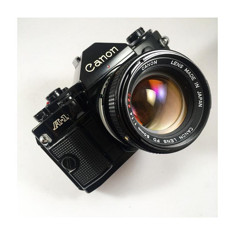 analog canon A-1 A1 35mm camera reflex 135 film vintage antique 50mm 1.4 fd ssc