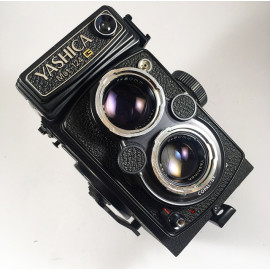 yashica mat 124g yashinon 80mm 120 tlr reflex moyen format 6x6 argentique photo photographie