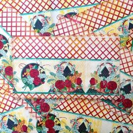 frise en papier floral fleur vintage 1950 1960 cuisine