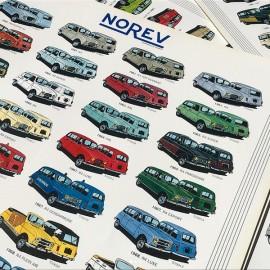 affiche ancienne papier renault R4 4L norev miniature vintage 1993 1994