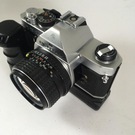 pentax mx analog film camera 50mm 1.4 reflex 35mm 135 winder winding