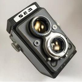 sem semflex standard 6x6 tlr reflex argentique appareil moyen format bi objectif 120 Berthiot Gris Sem Paris 75mm 3.5