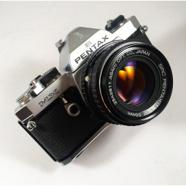 pentax mx analog film camera 50mm 1.7 reflex 35mm 135 shock