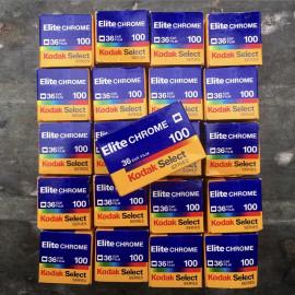 kodak elite chrome 100 diapo diapositive e6 35mm 36 poses argentique pellicule film périmé vintage