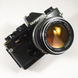 olympus om2 noir zuiko auto s 50mm 1.4 appareil argentique ancien reflex